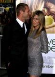 Aaron Eckhart und Jennifer Aniston Stockfotografie