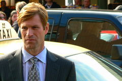 Aaron Eckhart In Upcoming Film Royalty Free Stock Images