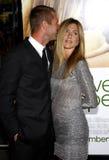 Aaron Eckhart y Jennifer Aniston Foto de archivo libre de regalías