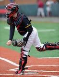 Aaron Etchison - coletor do basebol da faculdade Imagens de Stock
