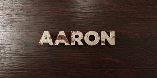 Aaron - grungy wooden headline on Maple - 3D rendered royalty free stock image. This image can be used for an online website banner ad or a print postcard stock illustration