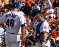 Aaron Heilman och Paul LoDuca, Ny Mets Royaltyfria Foton