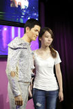 Aaron kwok wax figure and fans Stock Images