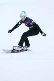 Aaron marzo de Italia monta la snowboard Imagen de archivo