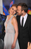 Aaron Paul et Imogen Poots Images stock