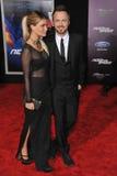 Aaron Paul & Lauren Parsekian Foto de Stock Royalty Free