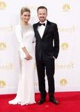 Aaron Paul och Lauren Parsekian Royaltyfri Fotografi