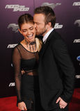Aaron Paul u. Lauren Parsekian Stockfotos
