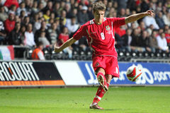 Aaron Ramsey Wales/Arsenaal Royalty-vrije Stock Foto