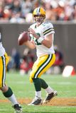 Aaron Rodgers Green Bay Packers. Aaron Rodgers Quarterback for the Green Bay Packers in game action during a regular season game stock image