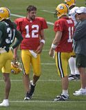 Aaron Rodgers, Green Bay Packers NFL Quarterback. Aaron Rodgers, quarterback of the Green Bay Packers during NFL Training Camp Royalty Free Stock Image