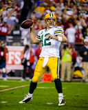 Aaron Rodgers Green Bay Packers. Green Bay Packers QB Aaron Rodgers. (Image taken from color slide Stock Photo