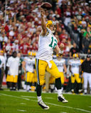 Aaron Rodgers Green Bay Packers. Green Bay Packers QB Aaron Rodgers. (Image taken from color slide Stock Images