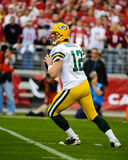 Aaron Rodgers Green Bay Packers. Green Bay Packers QB Aaron Rodgers. (Image taken from color slide Royalty Free Stock Images