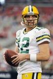 Aaron Rodgers Quarterback för de GreenBay packarna Royaltyfria Bilder