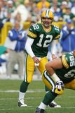Aaron Rodgers Green Bay Packers. Aaron Rodgers Quarterback for the Green Bay Packers in game action during a regular season game stock images