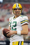 Aaron Rodgers Quarterback for the GreenBay Packers. Royalty Free Stock Images