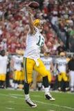 Aaron Rodgers Quarterback pour les emballeurs de GreenBay Image stock