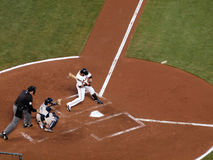 Aaron Rowand batter takes a swing at a pitch Stock Image
