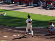 Aaron Rowand stands in the batters box Royalty Free Stock Photos