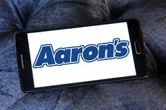 Aaron`s company logo Stock Photos