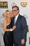 Aaron Sorkin & Carrie Keagan Fotos de Stock