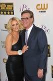Aaron Sorkin et Carrie Keagan Photos stock