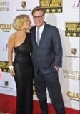 Aaron Sorkin y Carrie Keagan Fotografía de archivo libre de regalías