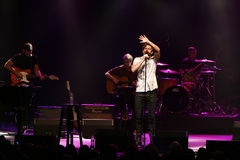 Aaron Tveit. Actor Aaron Tveit performs in concert at the Paramount in Huntington, New York Royalty Free Stock Images