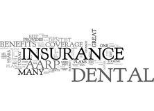 Aarp Dental Insurance Word Cloud. AARP DENTAL INSURANCE TEXT WORD CLOUD CONCEPT royalty free illustration