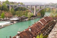 Aarrivier in stad van Berne Royalty-vrije Stock Foto