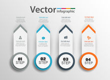 Aarrow  infographic design can be used for workflow layout, diagram, annual report, web design Stock Photo