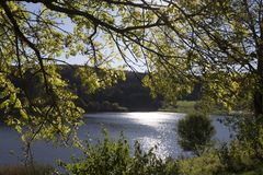 Aartal lake dam hesse germany. Aartal lake dam in hesse germany Stock Photography