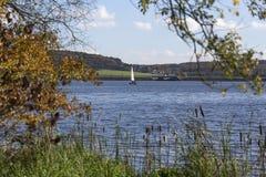Aartal lake dam hesse germany. Aartal lake dam in hesse germany Stock Image