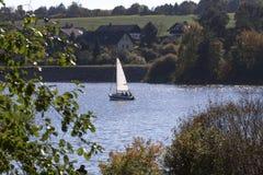 Aartal lake dam hesse germany. Aartal lake dam in hesse germany Stock Photo