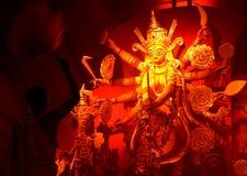 Aarti del puja de Durga Fotos de archivo libres de regalías