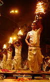 aarti ganga Varanasi Obraz Stock