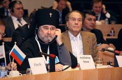 Aartsbisschop Simon en telling Sheremetjev. Royalty-vrije Stock Foto's