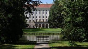 Aartsbisschopkasteel in Kromeriz, Tsjechische republiek Royalty-vrije Stock Foto's