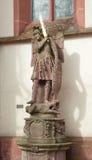 Aartsengel Michael met een vlammend zwaard Royalty-vrije Stock Afbeelding