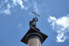 Aartsengelmichael kolom Royalty-vrije Stock Afbeeldingen