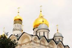 Aartsengelskerk Moskou het Kremlin Unesco-erfenis Stock Foto