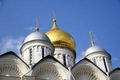 Aartsengelskerk van Moskou het Kremlin De Plaats van de Erfenis van de Wereld van Unesco stock afbeeldingen
