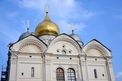 Aartsengelskerk van Moskou het Kremlin De Plaats van de Erfenis van de Wereld van Unesco stock foto's