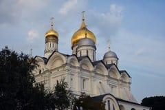 Aartsengelskerk van Moskou het Kremlin De Plaats van de Erfenis van de Wereld van Unesco royalty-vrije stock afbeelding