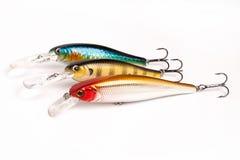 Aas voor visserij - wobbler op wit Royalty-vrije Stock Afbeelding
