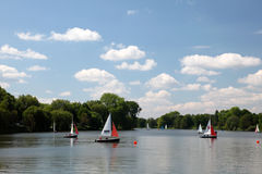 Aasee See in Munster, Deutschland Stockfotos
