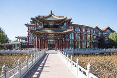 AAsian中国,北京,古色古香的大厦,最好在城市所有土地  免版税库存图片