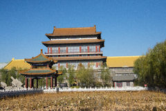 AAsian China, Pekín, edificios antiguos, el mejor en toda la tierra de la ciudad Fotografía de archivo libre de regalías