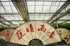 AAsian Chinese, Beijing, agriculture Carnival,Landscape layout, fan Royalty Free Stock Image